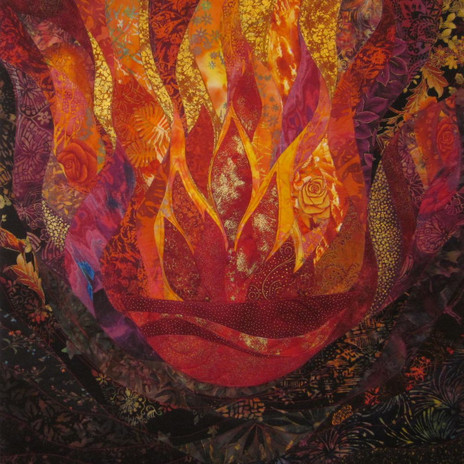 Flaming Cauldron with Roses