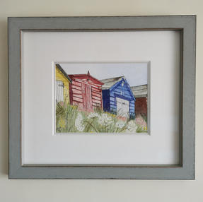 Beach Huts at Milford on Sea - by Sue £135 Unframed £90