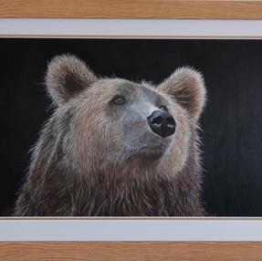 """""""Thoughtful"""" Bear by Sue £165 Unframed £110"""