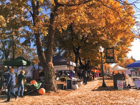 Farmers Market Concludes During Harvest Festival
