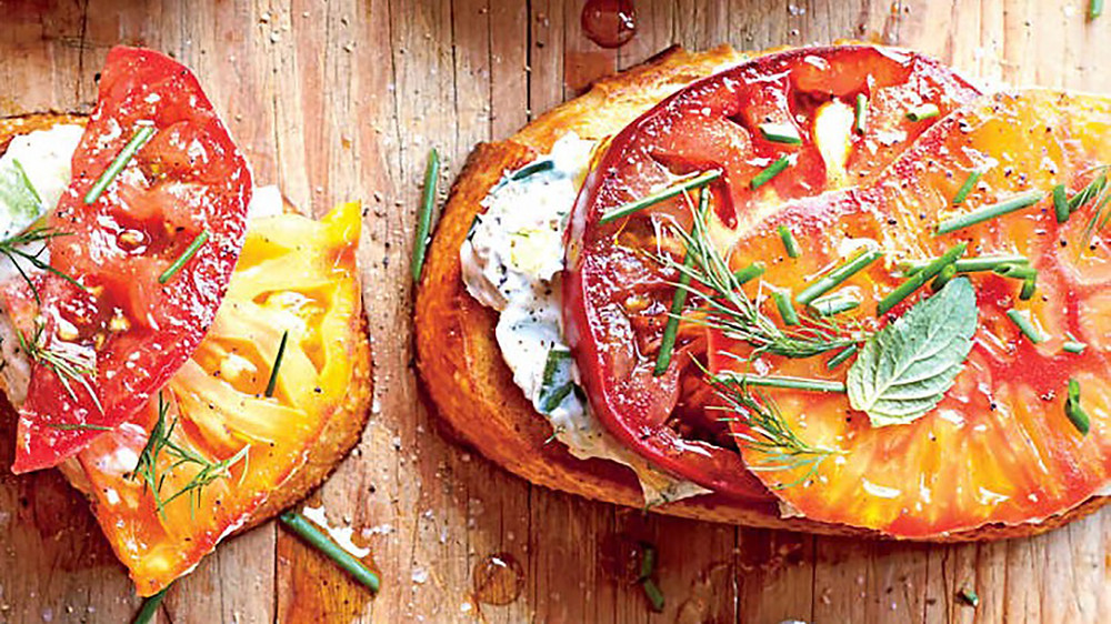Tomato Party Sandwiches with Cucumber Spread