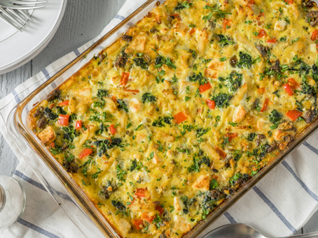 Manchego and Chorizo Egg Bake