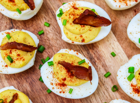 Kicked Up Deviled Eggs