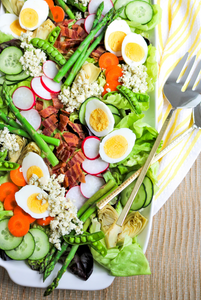 Spring Cobb Salad with Creamy Avocado Dressing