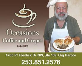Gig Harbor Business Occasions Coffee and Crepes