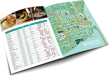 Go Sandpoint Magazine Local Guide Graphic