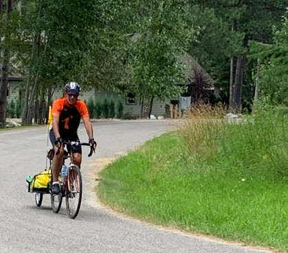 My bike and trailer on a recent trading ride.