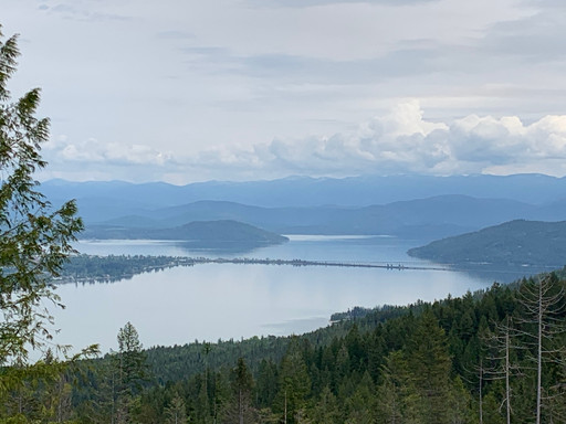View of Lake Pend Oreille from the top of the Green Monarchs during a recent training hike.