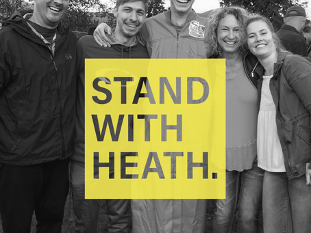 Stand with Heath