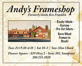 Sandpoint Business Andy's Frameshop