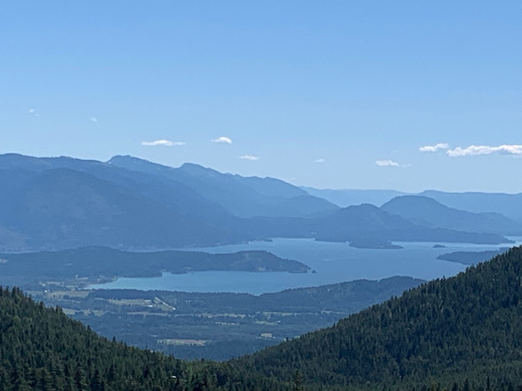 View of Lake Pend Oreille from Schweitzer mountain resort.