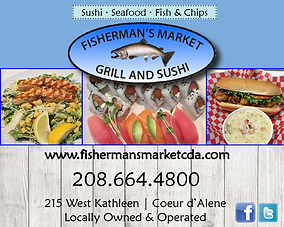 Coeur d'Alene Business Fisherman's Market Grill and Sushi