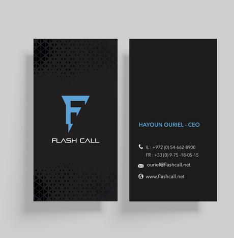 Flash Call Visit Card