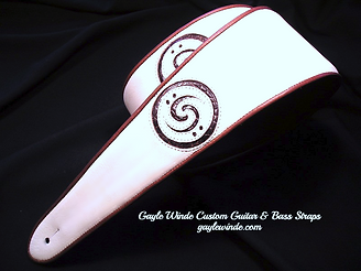 Gayle Winde Custom Leather Bass Straps -
