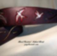 Hand-Panited Soaring Birds - Artisan Guitar Straps - gaylewinde.com