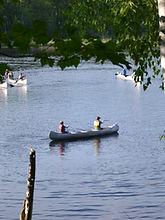Canoeing at Long Lake Conservation Center