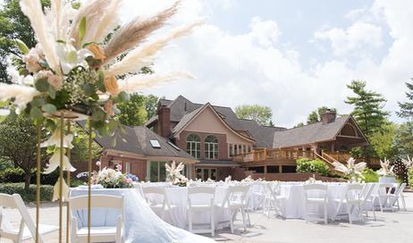 Satin & Stems // GardenWedding Reception // The Balmoral House