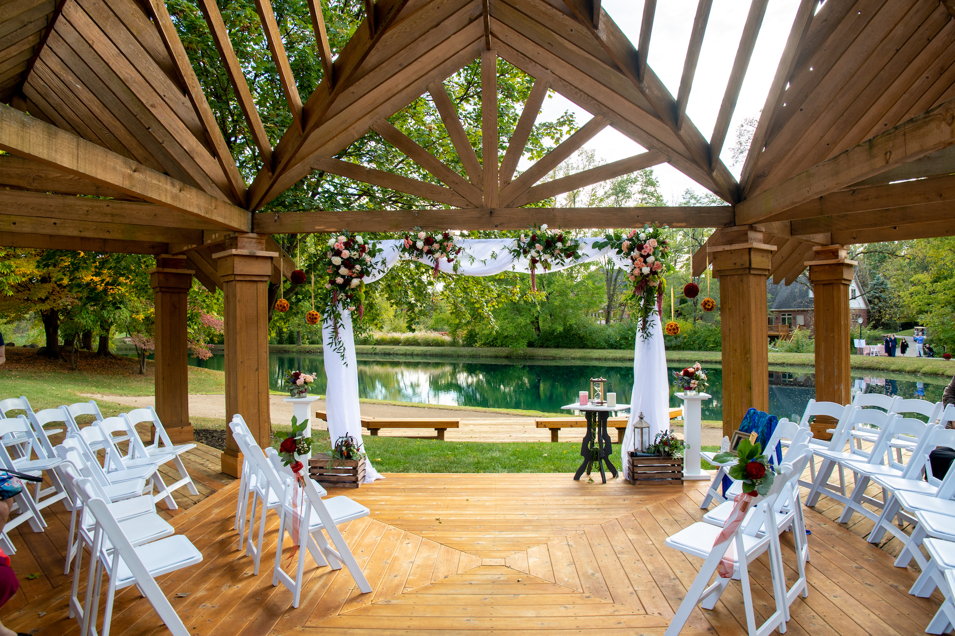 The Balmoral House Pergola ceremony