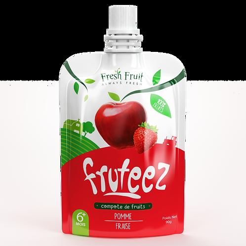 Compotes Fruteez-Pomme Fraise