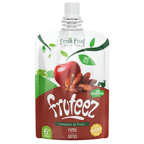 Compote Fruteez-Pomme Datte