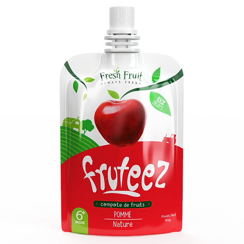 Compote Fruteez-Pomme Nature