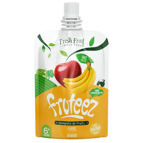 Compotes Fruteez-Pomme Bannane