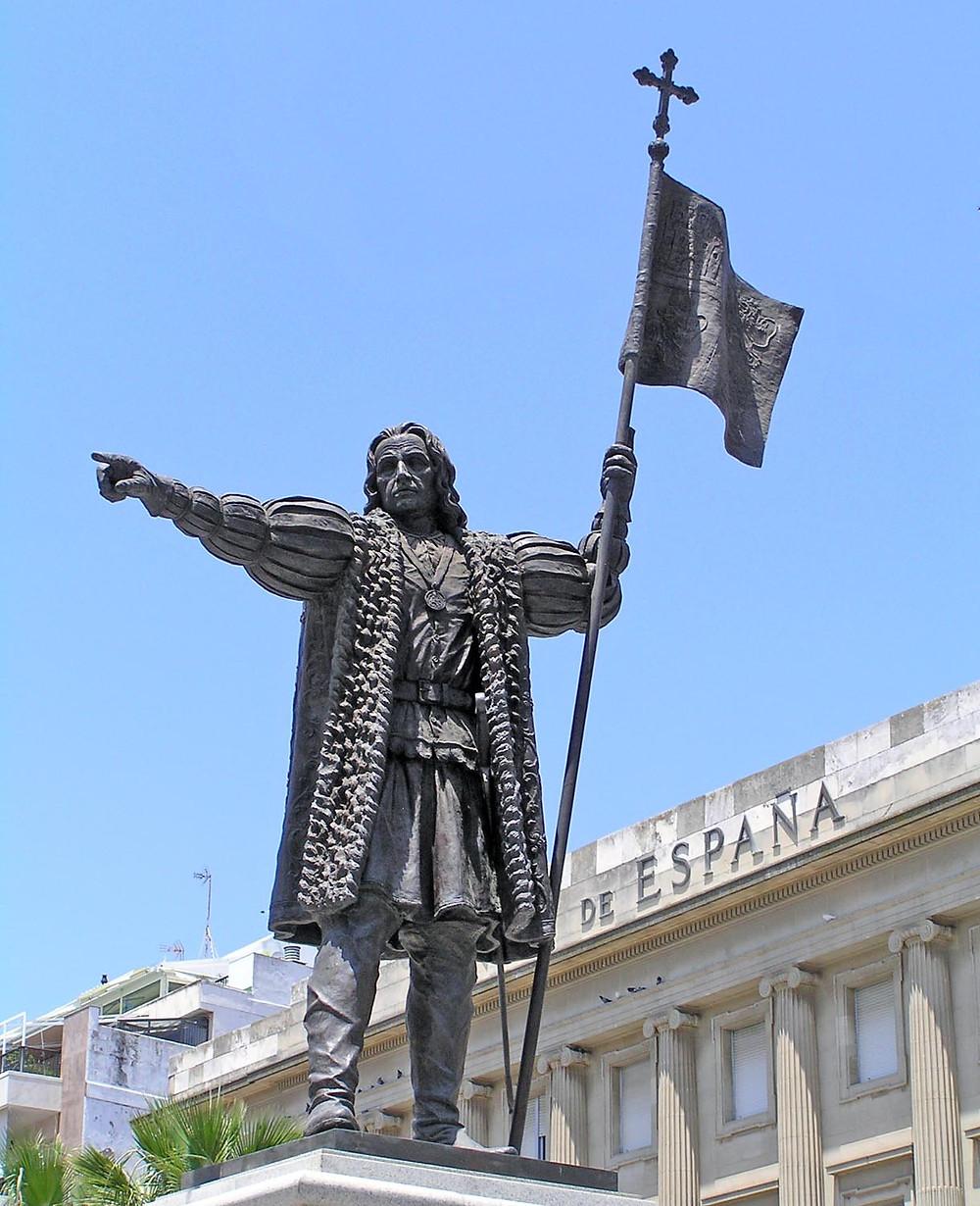 Estatua de Cristóbal Colón huelva
