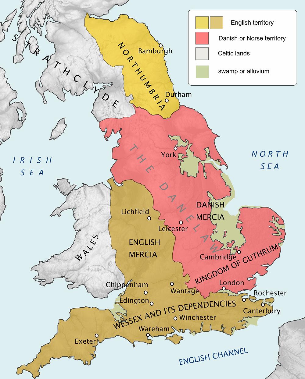 Mapa vikingo inglaterra