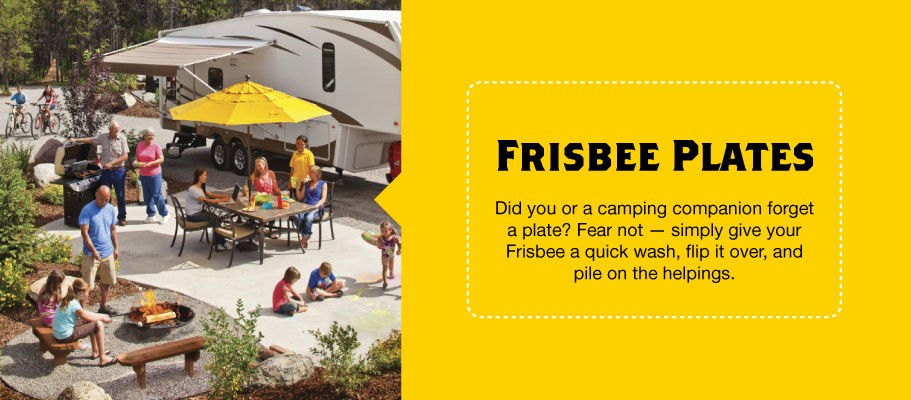 Frisbees-as-Plates-makes-a-great-Camping-Hack