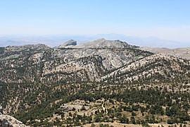 Loma del Cagasebo y pico del Aguilón del Loco, desde el Cerro Cabañas