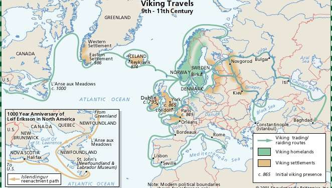 Los Mares Occidentales, Vinland E Irlanda