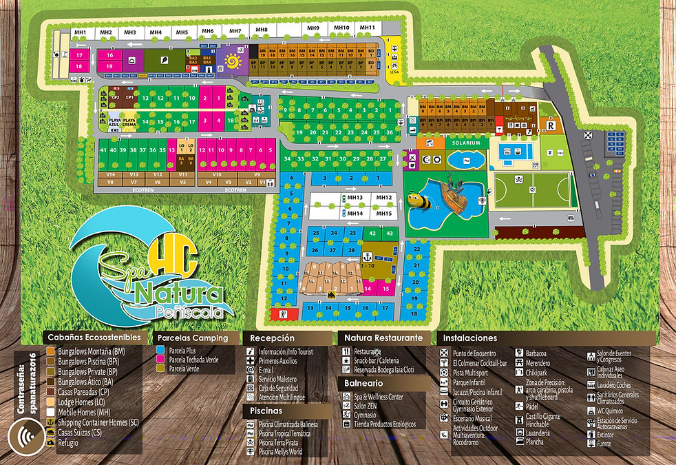 Mapa del camping spa natura resort