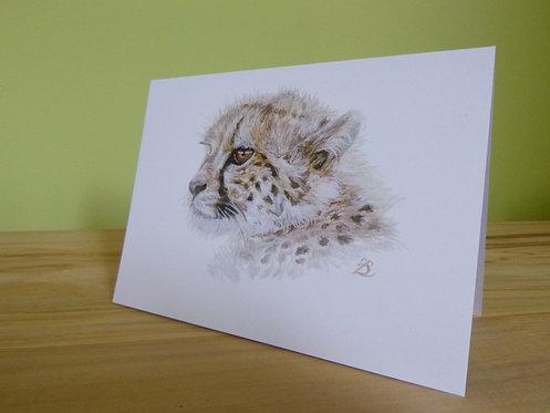 'Serenity' Cheetah Cub Greeting card