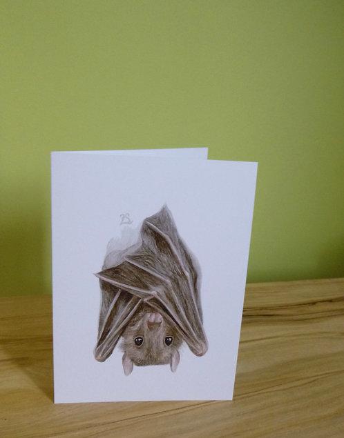 'Hanging Around' Egyptian Fruit Bat Greeting card
