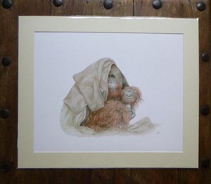 'Any Spare Change?' Orangutang Fine Art Giclee Print
