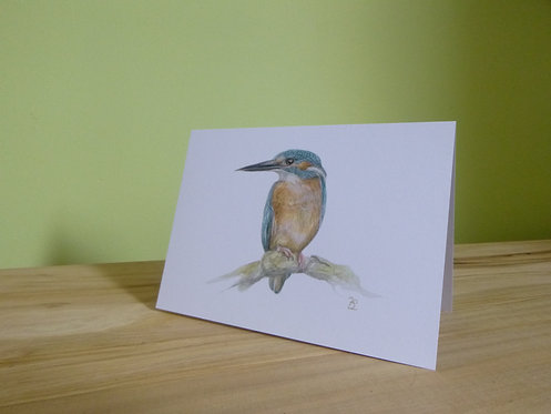 'Patience' Kingfisher Greeting card