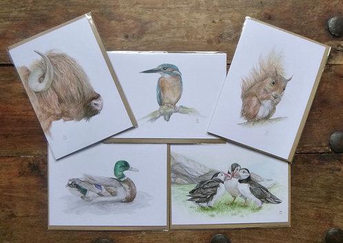 British Bundle - 5 Greetings cards