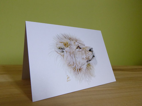 'Courage' African Lion Greeting card