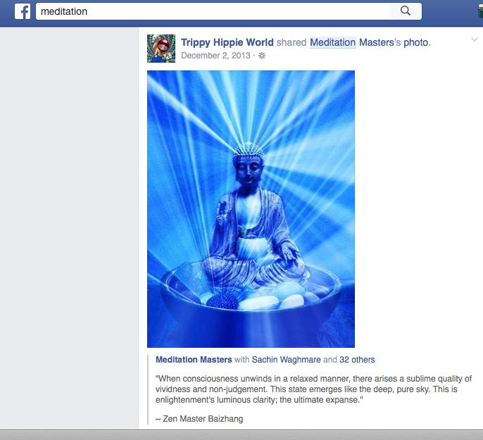 Trippy Hippie World Facebook Post