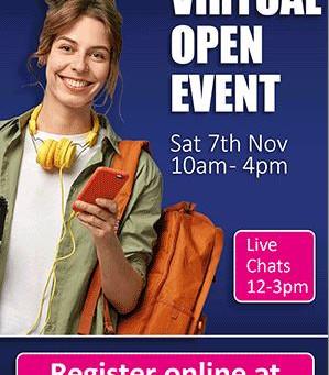 New College Swindon Virtual Open Day (Yr 10 - 11, 7th Nov)