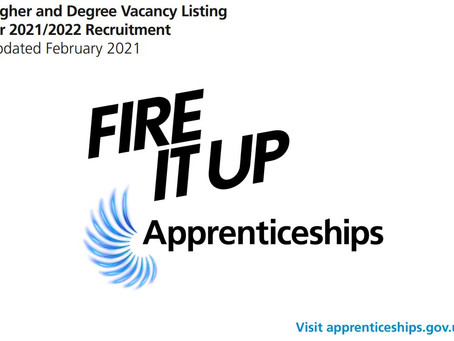 Looking for a Higher or Degree Apprenticeship? New listing (Yr 12 & 13, Feb 2021)