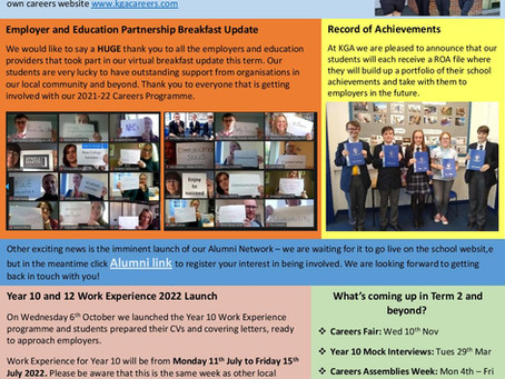 KGA Careers Newsletter - Term 1 2021