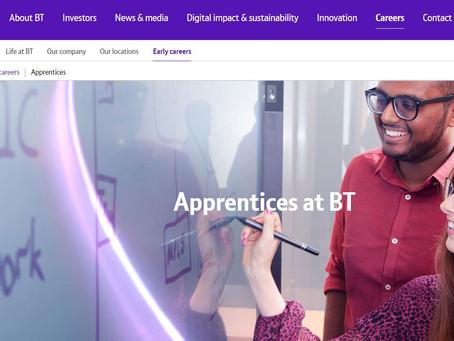 BT Apprenticeships Virtual Open Evening (Yr 10 - 13, 8th & 23rd Feb)