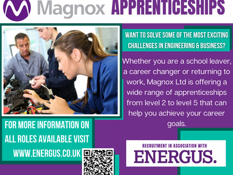 Engineering & Business Apprenticeship opportunities (Yr 11+, closing date 18th April 2021)