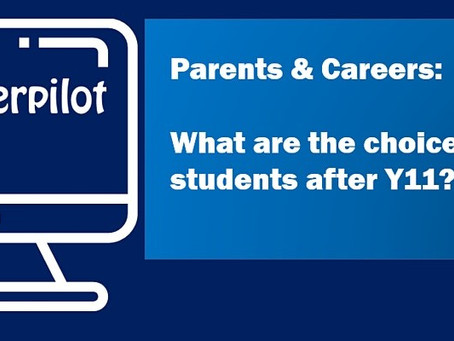 For Parents: Post-16 & Post-18 options webinars (13th Oct, 24th Nov)