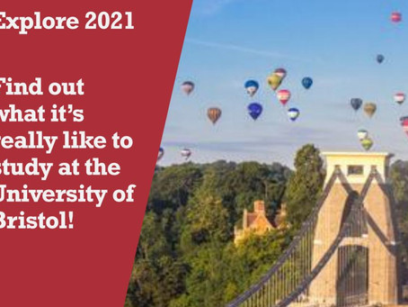 Uni of Bristol 'Explore' Taster Events 2021 (Yr 21, 14th - 18th June, limited places apply asap)