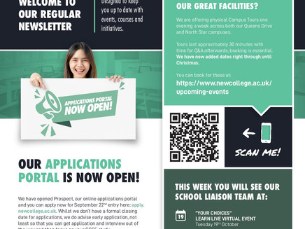 New College Swindon - Apprenticeship vacancies, apply to courses  & campus tours (Yr 11-13, Oct 21)