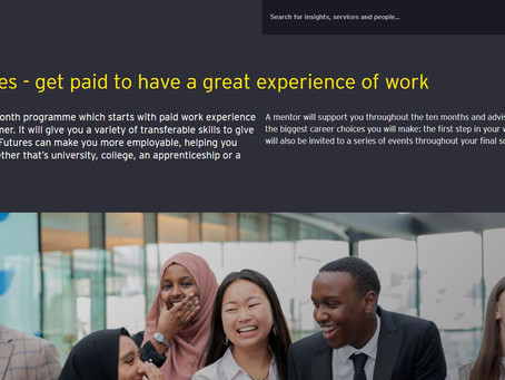 Paid Work Experience with EY - consulting, assurance, tax ... (Yr 12, Easter placement, apply asap)