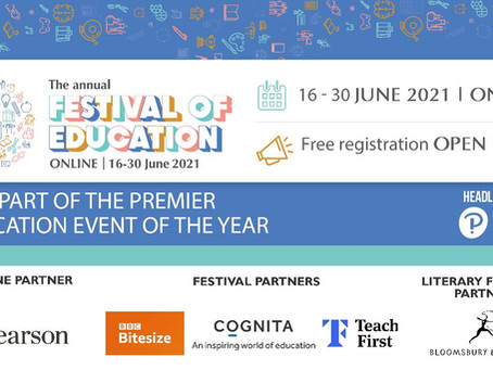 Festival of Education, featuring KGA on 18th June (16-30 June 2021)