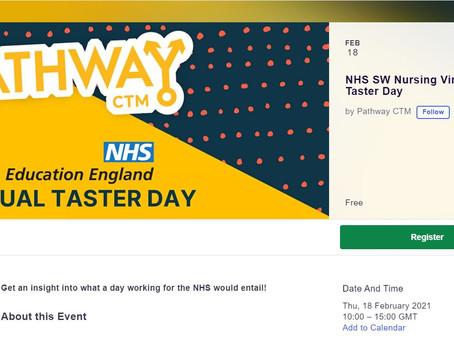 Nursing Virtual Taster Day (Yr 11 - 13, Thurs 18th Feb, 10 - 3pm)